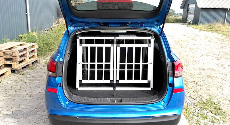 SafeCrate Double Medium Premium i Hyundai i30 2017