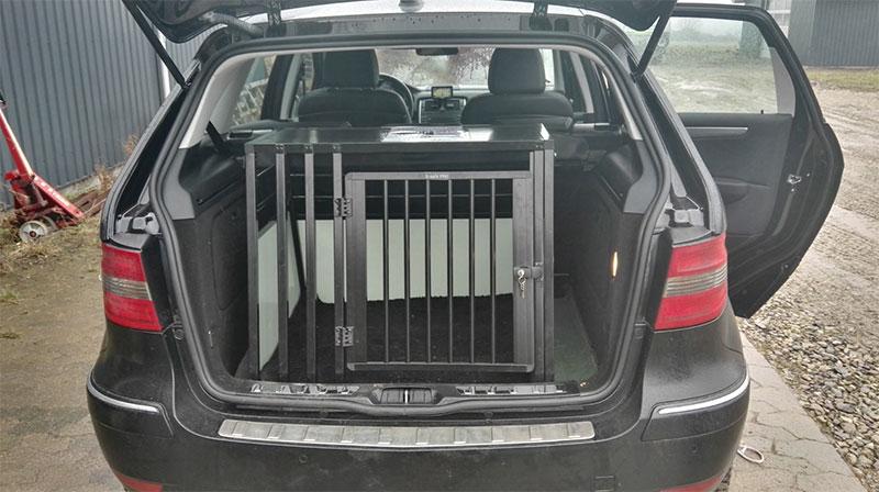 Bredt hundebur b-Safe Large Wide PRO hundebur til mellemstore hunde