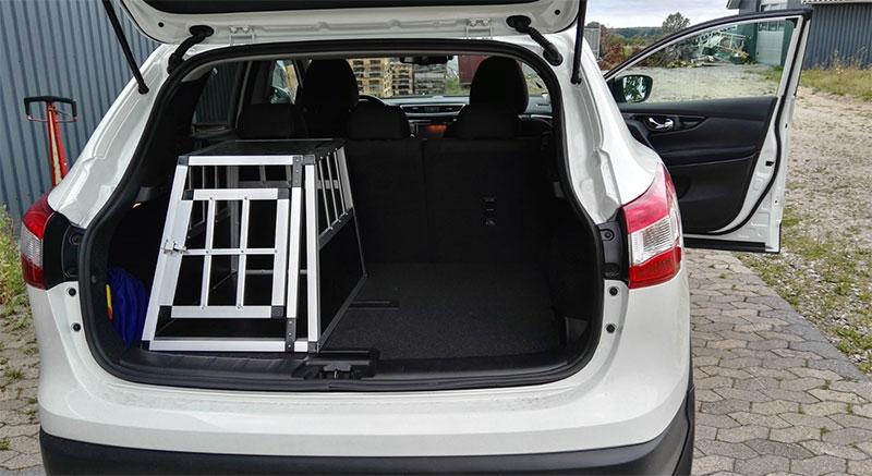 SafeCrate Xtra Small Premium i Nissan Qashqai från 2015