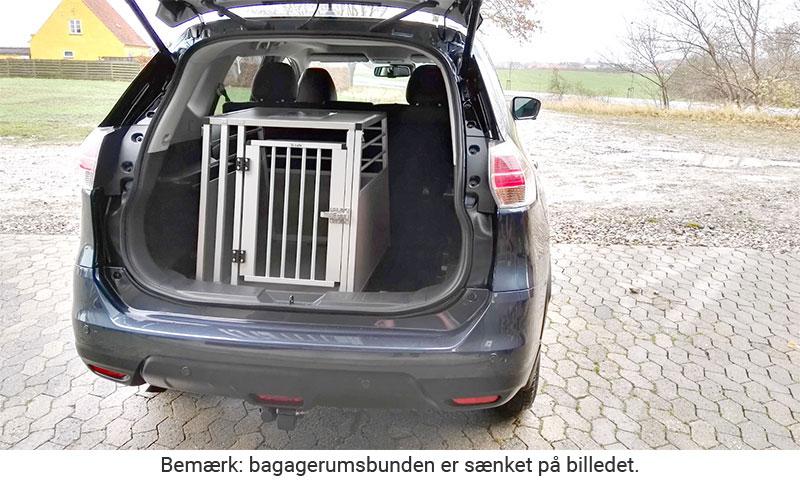 b-Safe Large - hunde transportbur i Nissan X-Trail årgang 2016