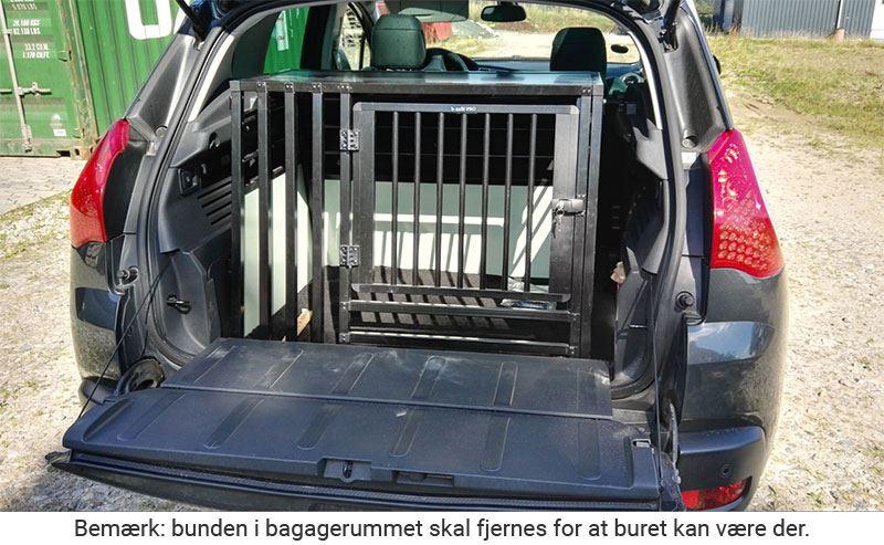 b-Safe XL Wide PRO med trin i Peugeot 3008 årgang 2010
