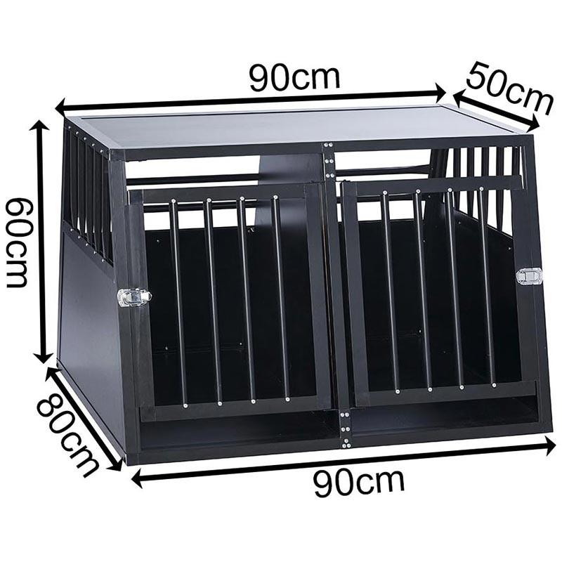 SafeCrate Double Medium --> Inkl. Skiljevägg <--   3:e Generation Hundbur