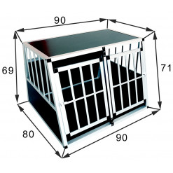 SafeCrate Double Large Premium - 2:a Generation Hundbur