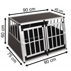SafeCrate Double Medium Premium - 2:a Generation Hundbur